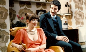 Beverly (Alison Steadman) and Laurence (Tim Stern) in Abigail's Party.