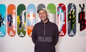 Lev Tanju, the founder of Palace Skateboards.