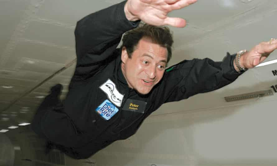 High flyer: Peter Diamandis spends his spare time achieving zero gravity.