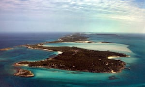The private island owned by the magician David Copperfield in the Bahamas.