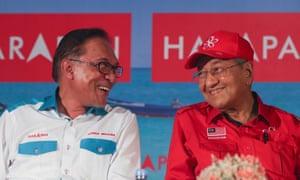 Anwar Ibrahim and Mahathir Mohamad