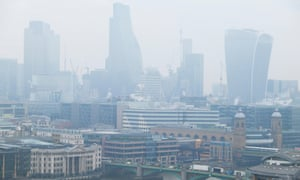 Air pollution over the City of London