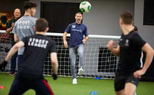 Ryan Giggs takes a coaching session for the Laureus-supported Street League programme, which uses football to help people get back into employment and education.