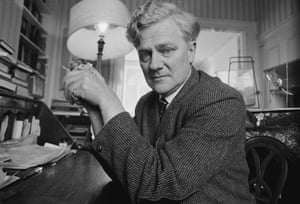 Watership Down author Richard Adams holding a pet mouse in 1974.