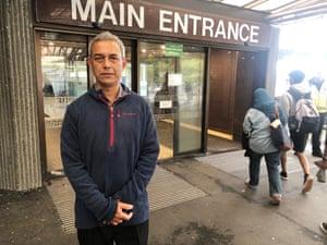 Mahmood Kahn waits outside Christchurch hospital for Shafiqur Rahman Anu, the honorary consul for Bangladesh in NZ.