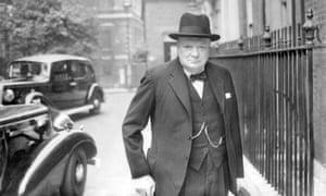Winston Churchill in Downing Street, 1941