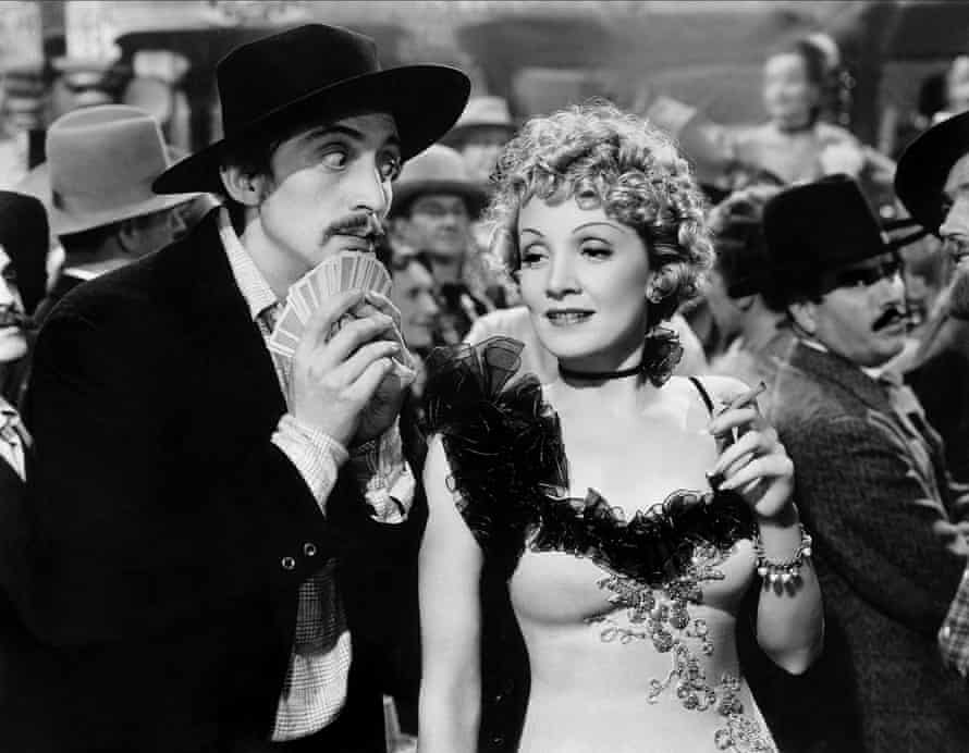 Marlene Dietrich in Destry Rides Again.