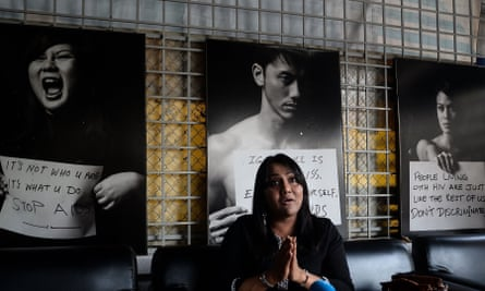 Nisha Ayub was one of two LGBT activists who had her portrait removed from an exhibition on the order of the Malaysian government, with campaigners labelling it an attack on the 'dignity' of the homosexual community.