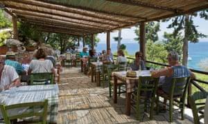 Greek restaurant on Monodendri beach, Paxos