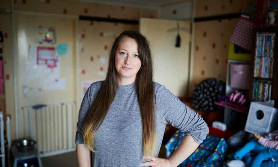Toni Stuart in her flat.