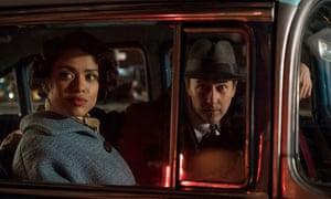 Gugu Mbatha-Raw and Edward Norton in Motherless Brooklyn. This is a strong, vehement film with a real sense of time and place.