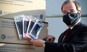 Man wearing medical-grade face mask