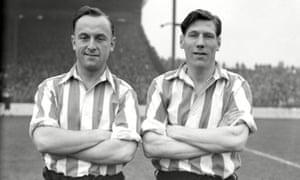 Ivor Broadis, left, with Len Shackleton at Sunderland.