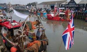 Whitstable harbour on the day of  the protest.