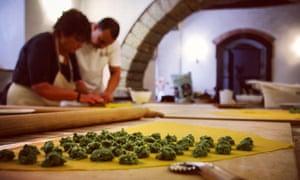 Green and pleasant: a cookery lesson at Al Vecchio Convento.