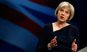 Theresa May at the 2015 Conservative party conference