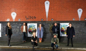 The team behind Manchester's Escape to Freight Island, from left, Sonia Pabla-Thomas, Paul Swindles, Gemma Krysko, Heather Allen, Justin Crawford, Luke Cowdrey and Daniel Morris.