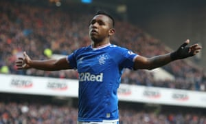 Alfredo Morelos is in fine goalscoring form at the moment.