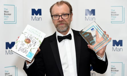 George Saunders with the Booker prize he won for the novel Lincoln In The Bardo.