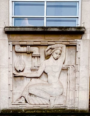 Not part of Artists Walk, but keep up ... the 1930s sculpted panels by Arthur Ayres at Crouch End