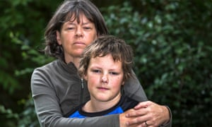Gillian Thies and her son Philip, at home in Birmingham.