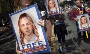 chelsea manning protest