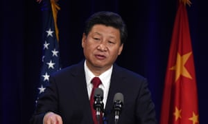 Xi Jinping speaks during his welcoming banquet at the start of his visit to the United States, at the Westin Hotel in Seattle, Washington.