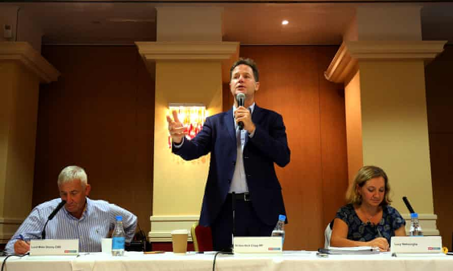 Nick Clegg and panellists at the Social Market Foundation fringe event at the Lib Dem 2016 conference in Brighton.
