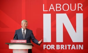 Johnson launching the Labour In for Britain campaign in December 2015