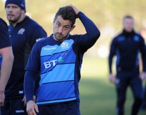 Greig Laidlaw in training.
