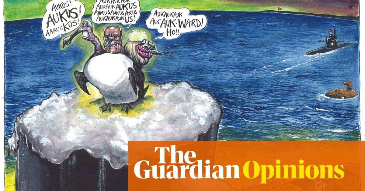 Martin Rowson on the Aukus military pact — cartoon