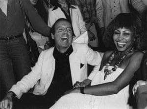 Francesco Scavullo & Tina Turner in Studio 54, 1977
