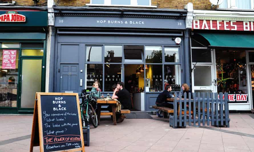Hop Burns and Black shop and bar in east Dulwich.