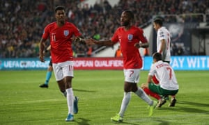 Marcus Rashford and Raheem Sterling were the targets of racists in Bulgaria and both have been racially abused in England in recent months.