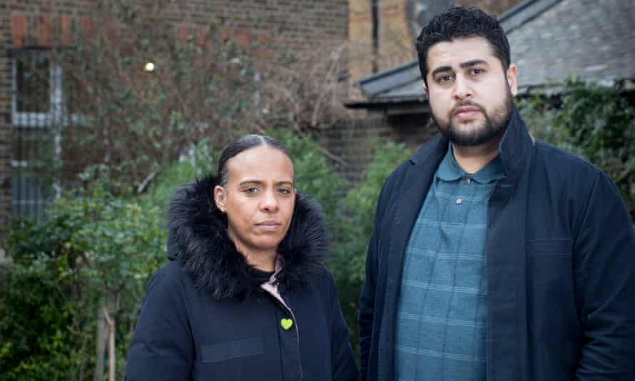 Grenfell survivors Natasha Elcock and Shahin Sadafy, leaders of the survivors' group Grenfell United