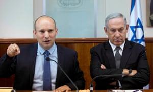 Benjamin Netanyahu (right) with Naftali Bennett.