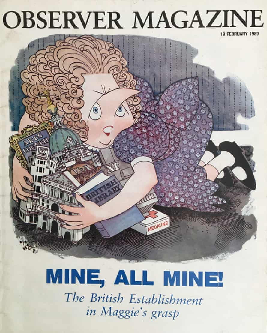 'Mine, all mine!' How the Observer Magazine saw Thatcher's megalomania in the year before she fell.