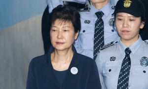 Park Geun-hye at the Seoul central district court in South Korea