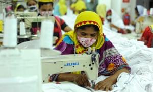 Workers in a garment factory in Gazipur, near Dhaka, Bangladesh