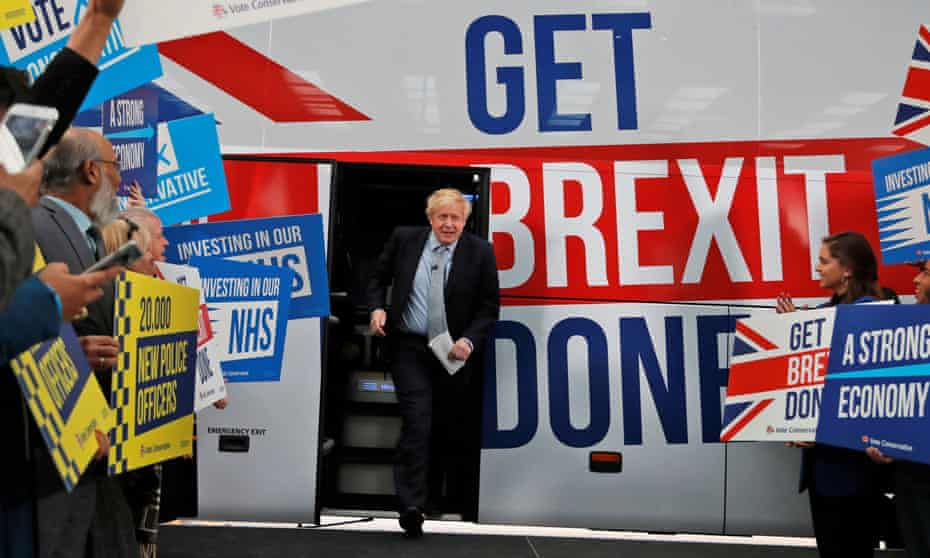 Boris Johnson on the general election campaign trail in 2019.