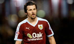 Joey Barton was named Burnley's player of last season as he helped them gain promotion to the Premier League.