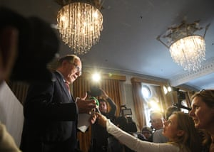Richard McLaren speaks during a press conference following the publication of his report on doping in Russian sport, at a hotel in central London.