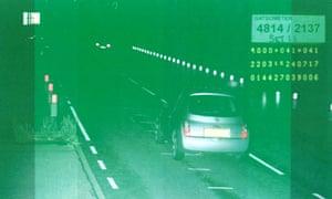 Nissan on speed camera