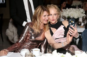 Laura Dern and Nicole Kidman pose for a selfie during the annual InStyle awards in Los Angeles