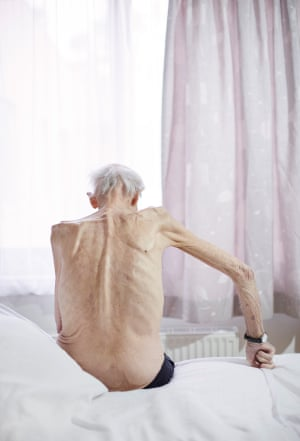 Melbourne-based Ebony Finck, who on her website pairs this image of an elderly man with a quote from J Earl Rogers: 'Death is dark to the mind. It cannot be reduced to the rational – neither thought, nor interpretation, nor even memories. It is through the expression of the inexpressible that art allows us to reach deep into our unconscious and touch this mystery'