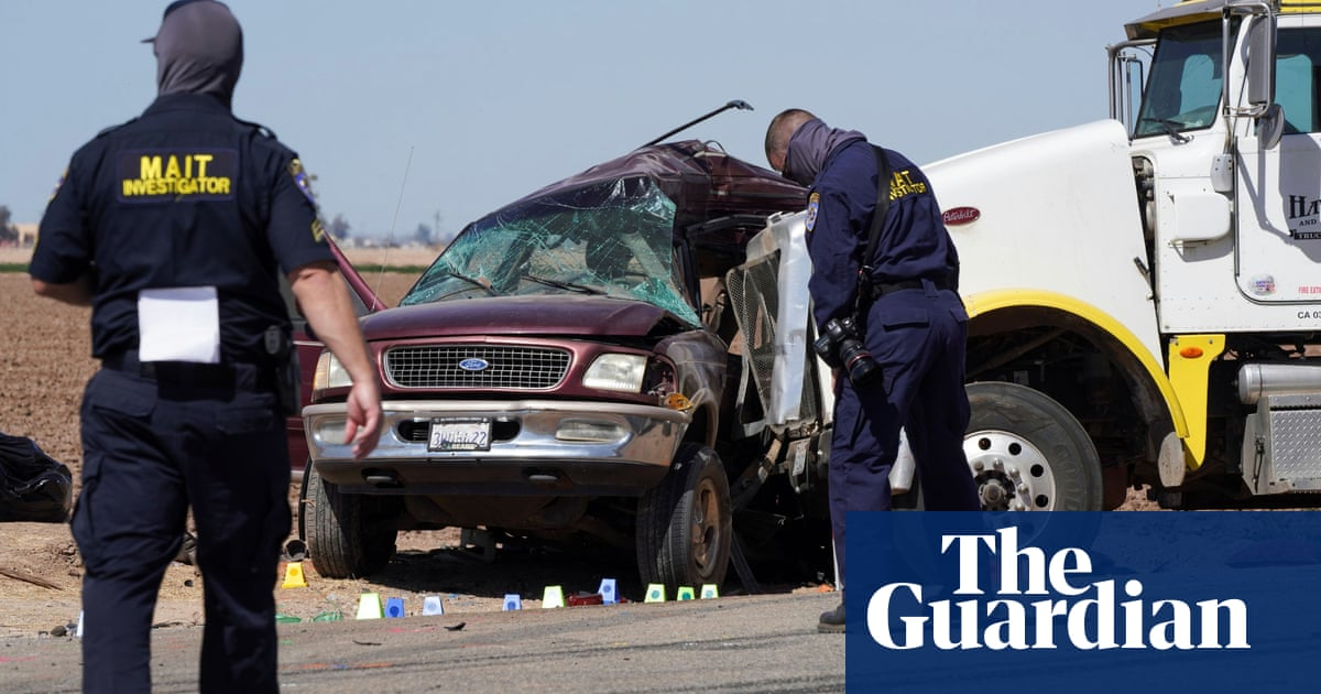 California crash leaves 13 people dead after truck and SUV collide