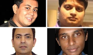 The four Bangladeshi bloggers who have been killed this year (clockwise from top left) Niloy Chakrabarti, Ananta Bijoy Das, Washiqur Rahman and Avijit Roy.