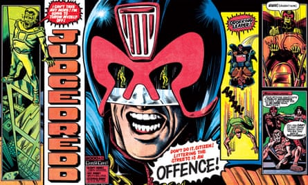 Getting Dreddy ... the Judge as he appeared in 2000AD