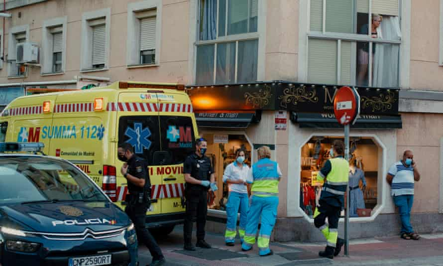 A mobile intensive care unit in Parla last week.