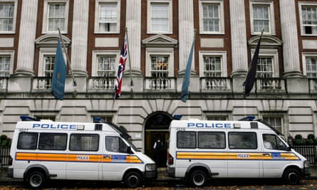 Police investigate Litvinenko's poisoning at the Millennium hotel in central London.